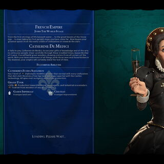 Catherine de Medici on the loading screen