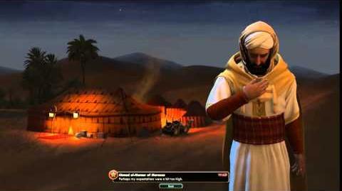 Civilization V Leader Ahmad al-Mansur of Morocco Defeat