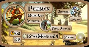 Pikeman Info Card (Civ5)