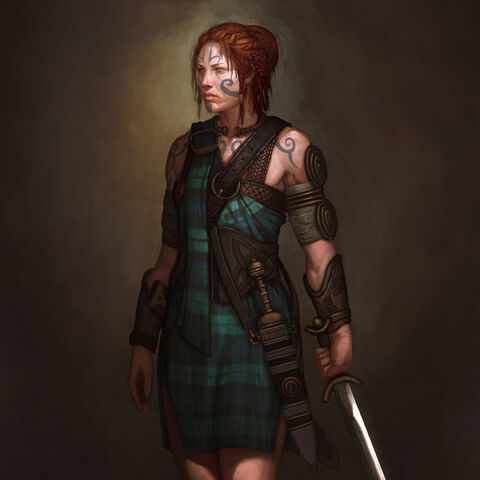 Concept art of Boudica (Civ5)