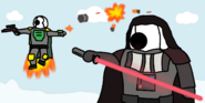 Darth Cj and Boba Lottie