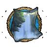 Item hidden waterfall background