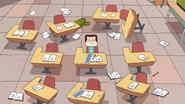 Jeff alone in class