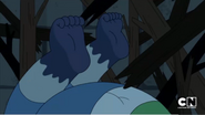 Clarence's feet