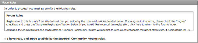 Registration - Forum Rules