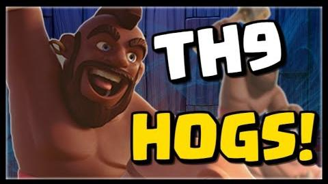 Best TH9 Attack Strategy Series - HOGS! 3 Golem GoBoHo - 3 Star Attacks in Clash of Clans