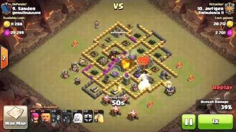 3 star attack TH6 vs TH7 Clash of Clans-0