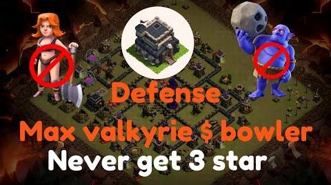 My war base defense against max valkyrie and bowler coc th9 anti 3 star war base th9 war base 2017
