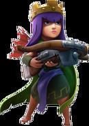 Transparent Archer Queen