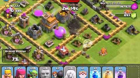 Clash of Clans - Attacking Giants, Wall Breakers, Healers - Shields and Giant Bombs - 1600 trophies