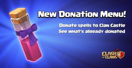 Sneak Peek Donation Menu