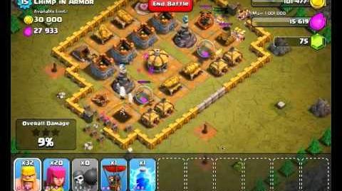 Clash of Clans Level 34 - Chimp in Armor