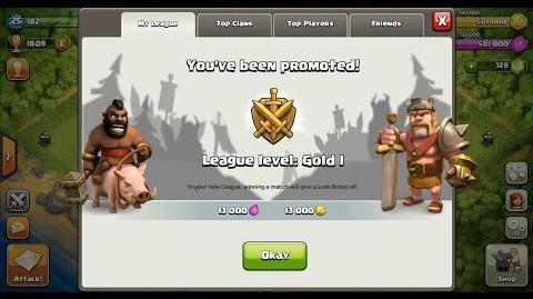 Clash of Clans Town Hall 4 (TH4) Gold League I-0