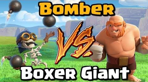 Bomber VS Boxer Giant - Clash of Clans Battle - New CoC Update 2017