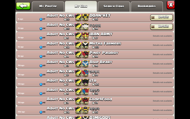 File:DOAN KET - WAR LOG - CLAN WAR RESULTS - LOST