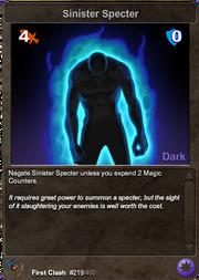 219 Sinister Specter