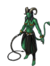 Harlequin green