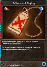 275 Talisman of Slaying