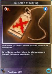 275 Talisman of Slaying (F)