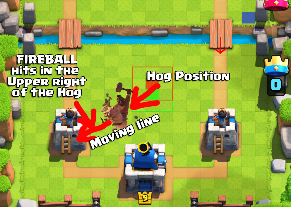 Hog position-small hack for clash royale