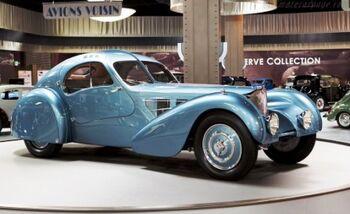Bugatti Type 57-SC Atlantic Coupe, Chassis 57374, at the Mullin Automotive Museum, WM