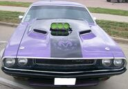Purple and black Challenger