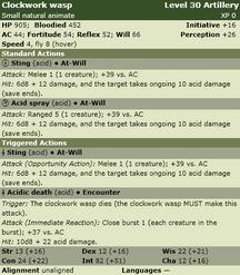 Clockwork wasp stats