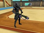 Player with plasma cannon