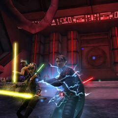Kalin & Ayanna Thalis at the Sith Academy.