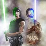 Luke Skywalker and Kyle Katarn by oliatoth
