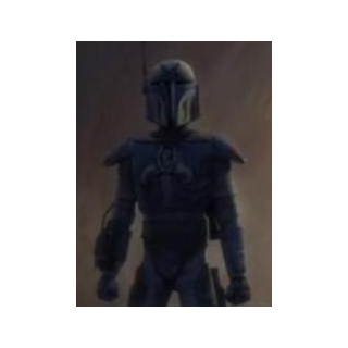 A'den's third set of Beskar'gam which he gained on Mandalore and later added a kama and his Kaminoan skin gloves and pelt