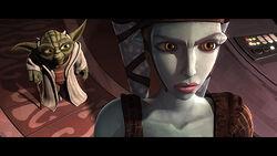 Aayla tells Yoda she needs to take a Meditative Retreat