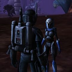 Mirta meets up with her father on Felucia during the Imperial-Mandalorian Campaign