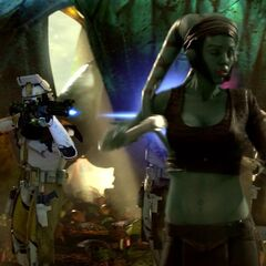 Skirata And  His men open fire on the jedi knight  aalya secura.