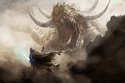 Capture-Krayt Dragon fighting