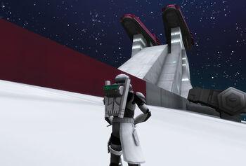 Atom attacking the cruiser (2)