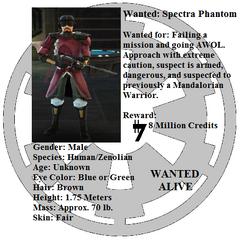 Spectra Phantom's Wanted Poster
