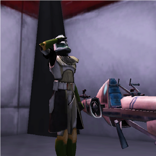 Carbon as a Trooper in Wolf Squadron