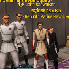 (From left to right)Racer, Cold, John Starwalker, and Luke after wedding.