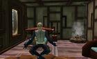 Aarok meditating