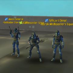 Commander Shox, Alinos General & SithLord Denal