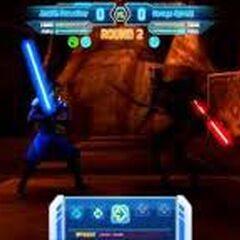 Aron dueling Savage Opress