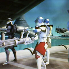 Delta Company blasting droids on Kamino