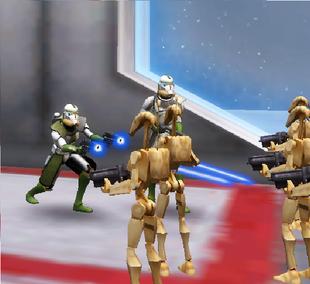Shox on droid ship