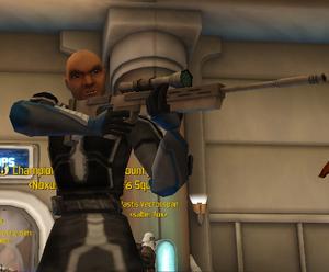 Boltshot firing his rifle