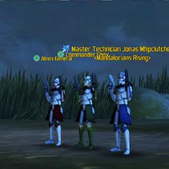 Commander Shox, Jonas Whipclutcher & Alinos General
