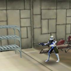 Commander Shox inside Kamino Base
