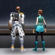 Luke and Sarah space