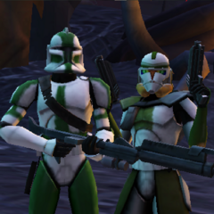 Commander Shox with Commander Gree