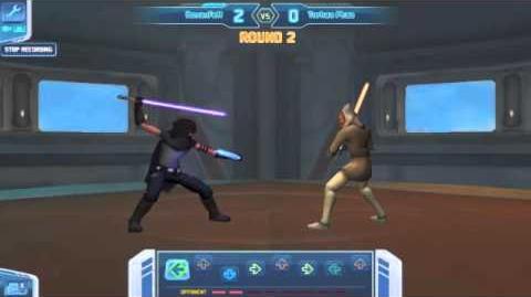 Setting High Score on Lightsaber Duel